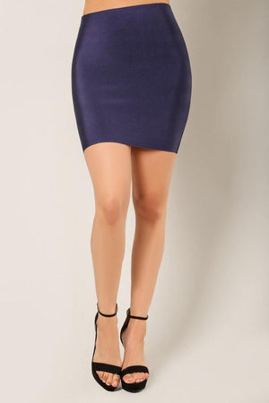Thalia, Navy blue bandage mini skirt - Dimesi Boutique