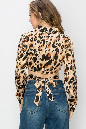 Aliza, Brown animal print Crop top