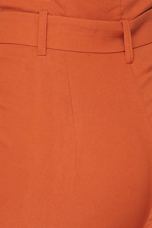 Penny, High Rise Rust Pants - Dimesi Boutique