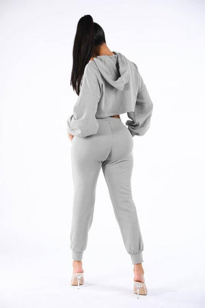 Kylie, Set with Crop Hoodie and jogger