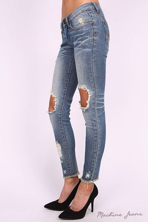 Katherine Destoyed Denim Jeans - Dimesi Boutique