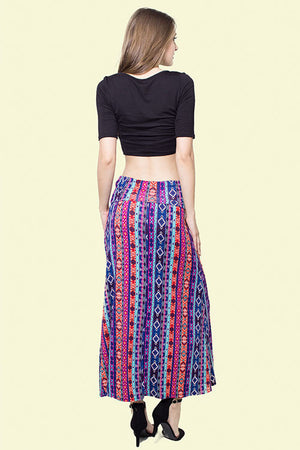 Mara, Multicolor maxi skirt - Dimesi Boutique
