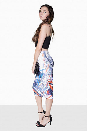 Printed pencil skirt - Dimesi Boutique