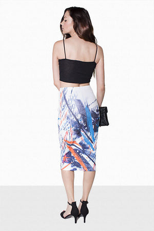 Alba, Printed pencil skirt - Dimesi Boutique