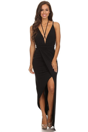 Molly, Black maxi dress - Dimesi Boutique