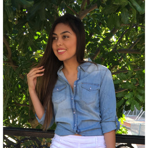 DIANA, DENIM BLOUSE - Dimesi Boutique