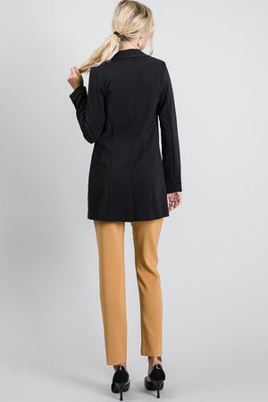 Soft long blazer jacket - Dimesi Boutique