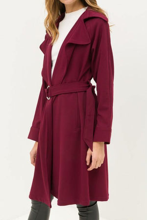 Belted Trench Lightweight Coat - Dimesi Boutique