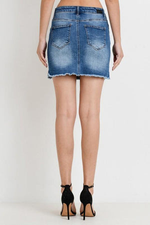 Alia, Mini Skirt with Side Zippers