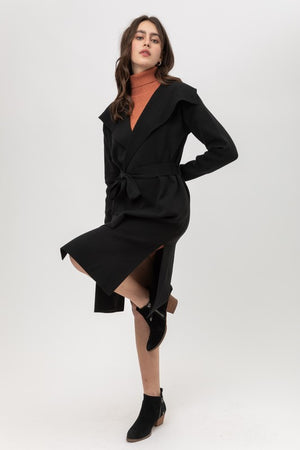Evelyn, Light weight belted wrap cardigan
