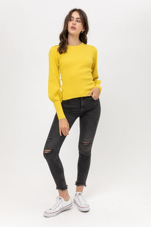 Diana, Top with long puff sleeve