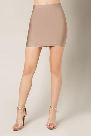 Thalia, Almond bandage mini skirt - Dimesi Boutique