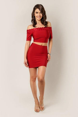 Thalia, Amber bandage mini skirt - Dimesi Boutique