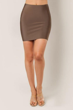Thalia, Cocoa bandage mini skirt - Dimesi Boutique