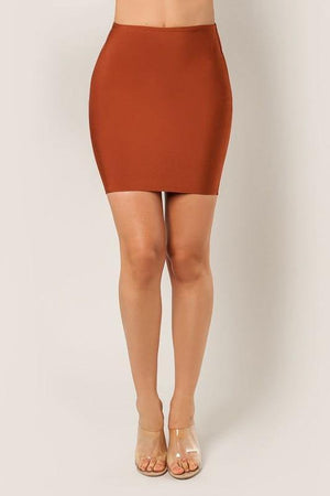 Thalia, Ginger bandage mini skirt - Dimesi Boutique