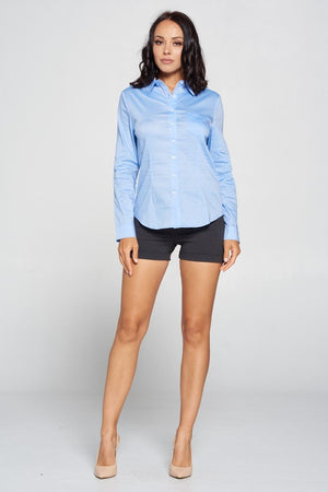 Megan, Long sleeve button up shirt