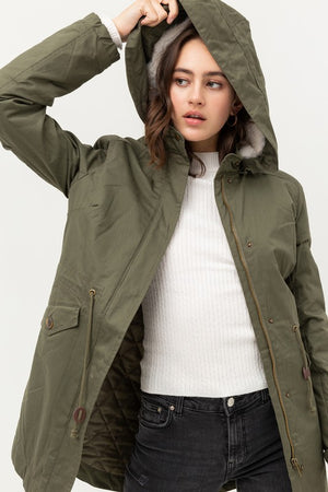 London, Removable hooded parka jacket