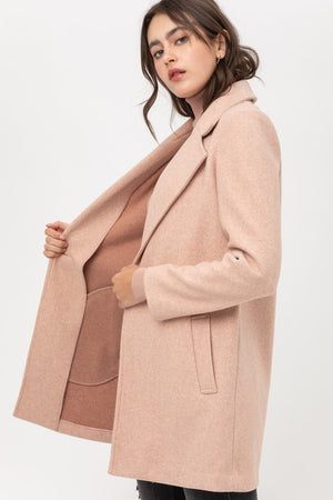 Sarai, Fleece Single Breasted Coat