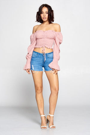 Lola, Smocked off shoulder top