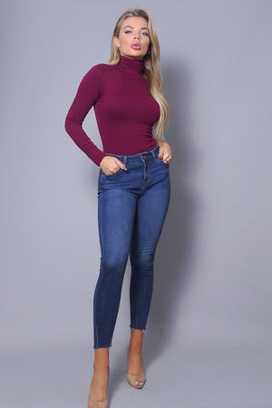 One sleeve turtleneck bodysuit - Dimesi Boutique
