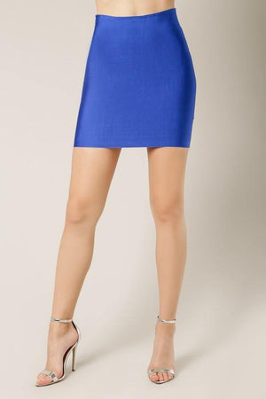 Thalia, Royal blue bandage mini skirt - Dimesi Boutique