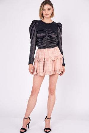 Miriam, Puff shoulder ruched front top