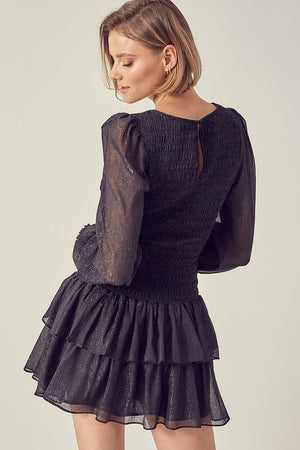 Helen, Smocked ruffle dress