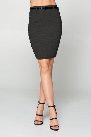 Kendall, Polka dot pencil skirt with belt attached