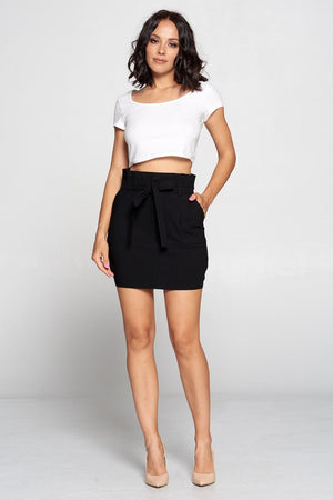 Kate, Self tie twill mini skirt