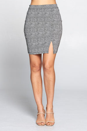 Lena, Slit side mini skirt