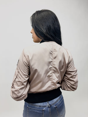 Carol, Bomber playfully patched Jacket - Dimesi Boutique