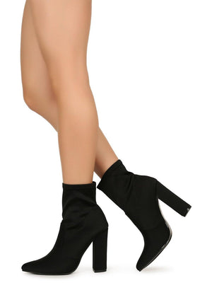 Eloise, Pointed booties with chunky heel - Dimesi Boutique