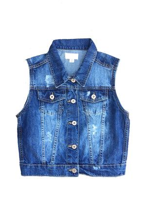 Kandi Denim Vest - Dimesi Boutique