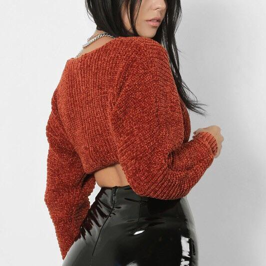 Cloe Copper Cropped Sweater