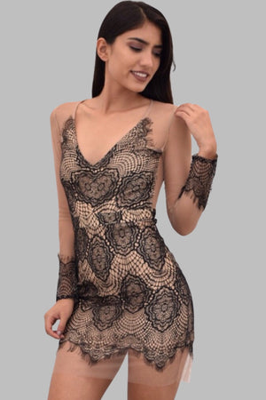 Kylie, Mesh bodycon dress