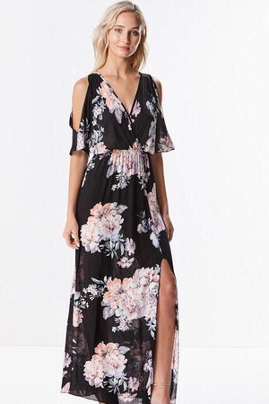 Bridgit Maxi Floral Dress - Dimesi Boutique