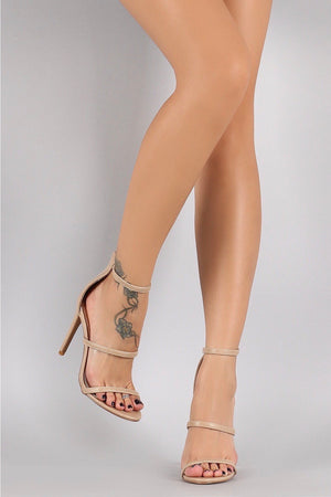 Golden, Open toe Heels - Dimesi Boutique