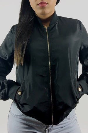 Jacky black bomber jacket - Dimesi Boutique