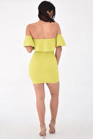 Nova, strapless flounces dress - Dimesi Boutique