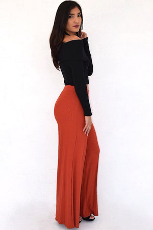 Molly, High rise palazzo pants - Dimesi Boutique