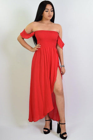 Hailee, Off the shoulder Maxi Dress - Dimesi Boutique