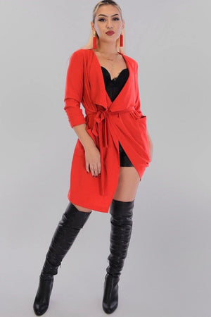 Leah, Red Jacket - Dimesi Boutique