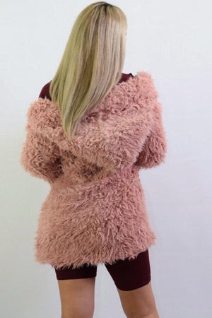 Karla, Mauve coat with soft textured