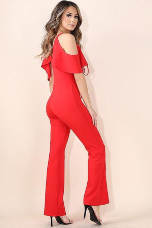 Reese, Cold shouder Jumpsuit - Dimesi Boutique