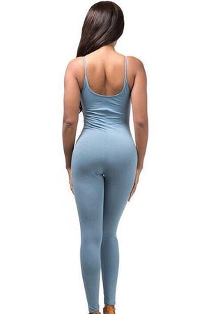 Light blue spaghetti strap jumpsuit - Dimesi Boutique