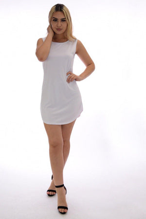 Daisy white T-shirt dress