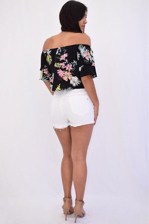Arora High-Waist Shorts - Dimesi Boutique