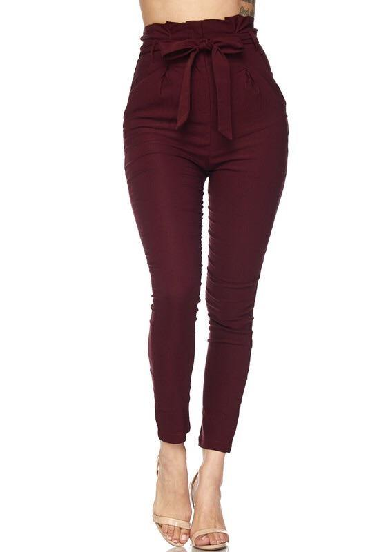 Best forever High Penny Rise Burgundy Pants