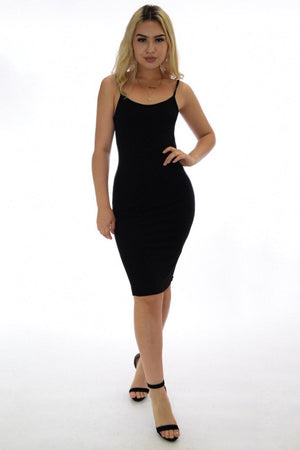 Vanessa black dress with deep V-cut on back - Dimesi Boutique