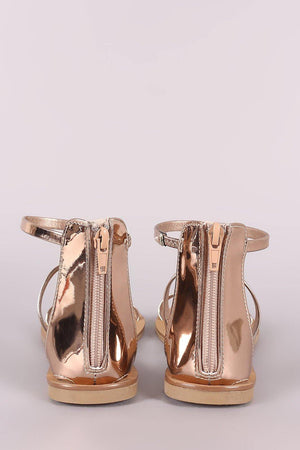 Athena, Rose Gold Sandals - Dimesi Boutique